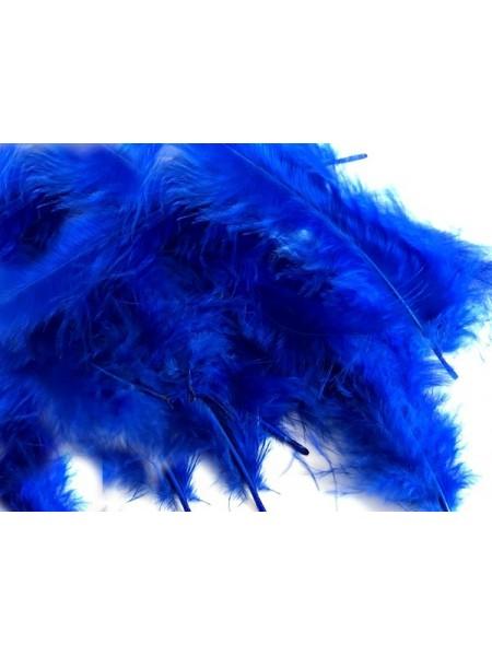 Перья декоративные,цв-синий,цена за уп-6гр