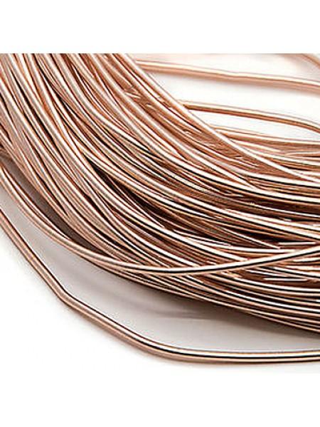 Канитель мягкая,цвет розовое золото,1 мм- 5 гр,№033