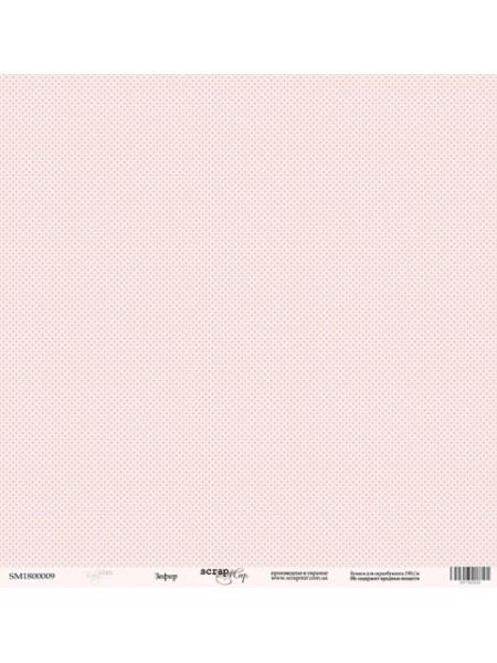 Лист односторонней бумаги 30x30 от Scrapmir Зефир из коллекции Baby Girl