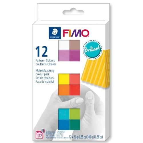 Набор полимерной глины FIMO SOFT BRILLIANT 12*25гр