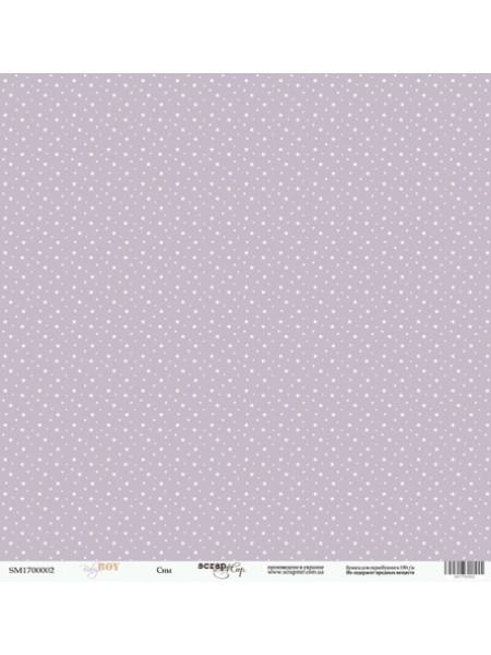 Лист односторонней бумаги 30x30 от Scrapmir Сны из коллекции Baby Boy