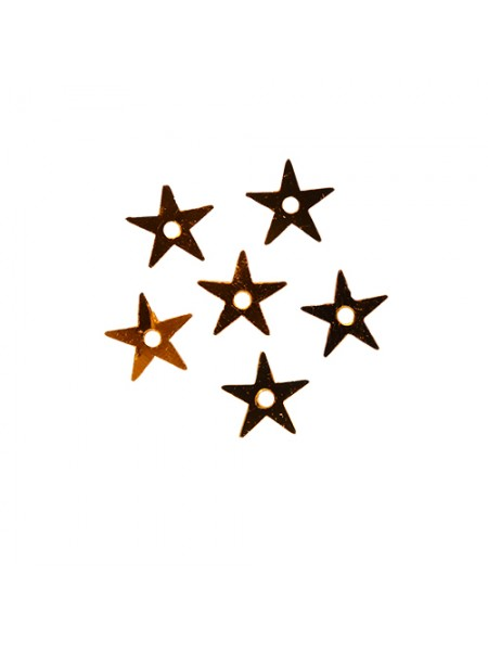 Пайетки 'звездочки,золото,,7 мм, А053-10
