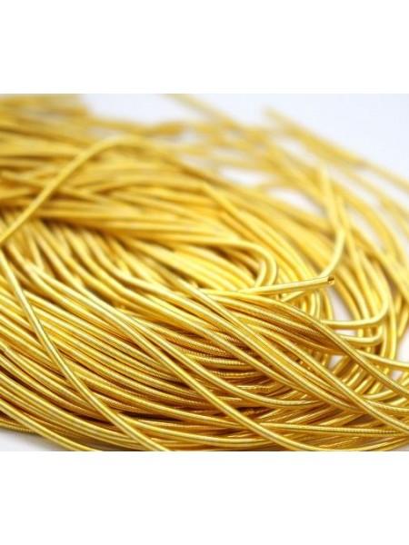 Канитель мягкая,цвет яркое золото,1 мм- 5 гр,№030