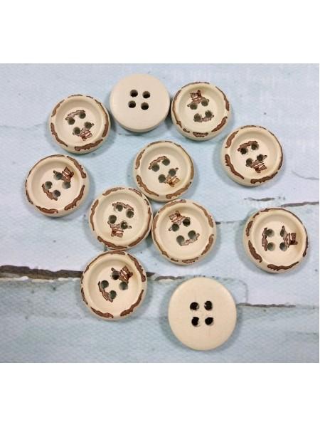 Пуговицы деревянные.ретро,15мм. цена за 1 шт