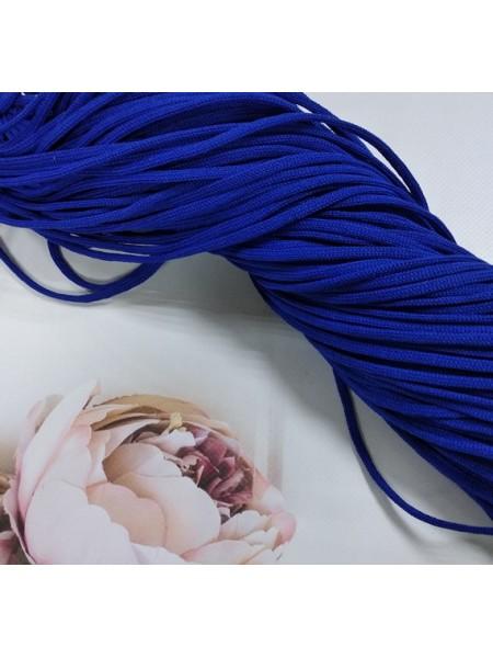 Полиэфирный шнур для вязания,4мм,цв-синий,100м