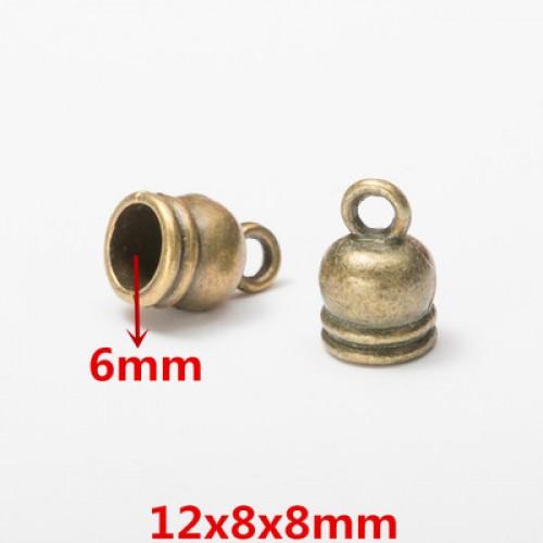 Концевик для шнура,кисточки,цв-бронза.12*8мм,цена  за 1 шт