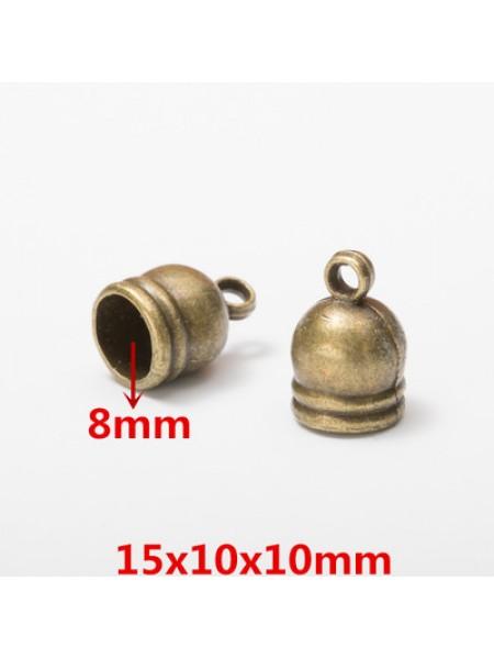 Концевик для шнура,кисточки,цв-бронза.15*10мм,цена  за 1 шт