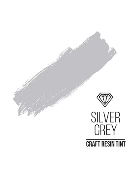 Краситель для смолы CraftResinTint-SilverGrey, Серый серебристый,10 мм