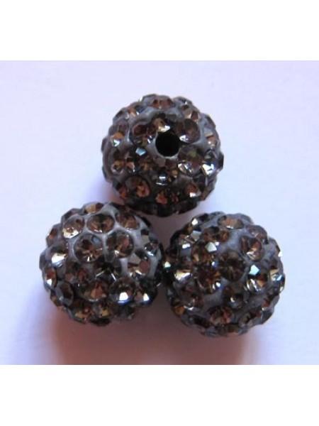 Бусина Шамбала.цв -тёмно-серый.цена за 1 шт