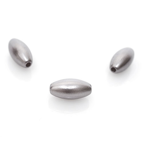 """Бусины пластиковые """"Рис"""", серые, 4х8 мм (100 шт.)"""