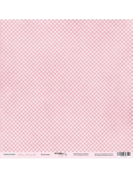 Лист односторонней бумаги 30x30 от Scrapmir Горошки 2 из коллекции Наша Малышка