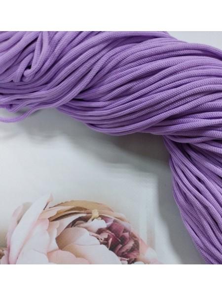 Полиэфирный шнур для вязания,4мм,цв-сиреневый,100м