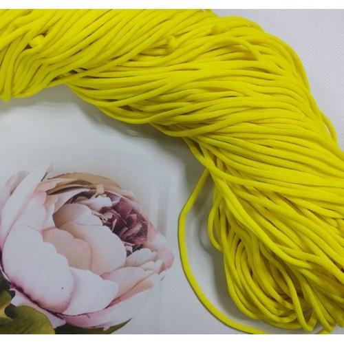 Полиэфирный шнур для вязания,4мм,цв-ярко-желтый,100м