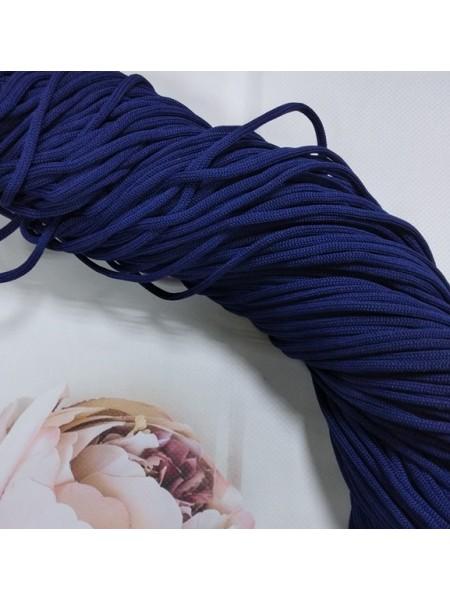 Полиэфирный шнур для вязания,4мм,цв-темно-синий,100м