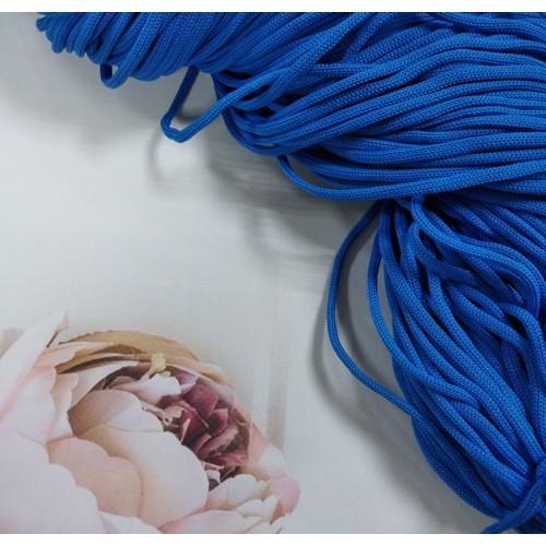 Полиэфирный шнур для вязания,4мм,цв-светло-синий,100м