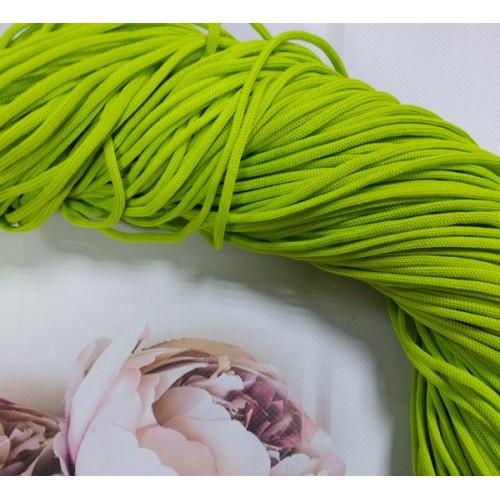 Полиэфирный шнур для вязания,4мм,цв-салатовый,100м