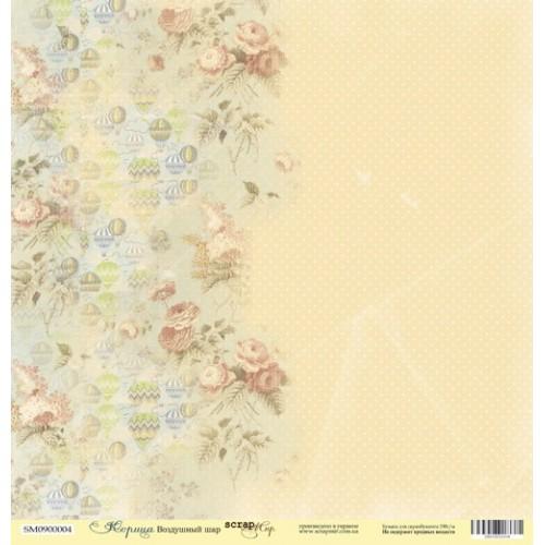 Лист односторонней бумаги 30x30 от Scrapmir Воздушный шар из коллекции Корица