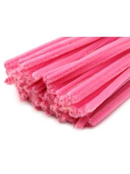 Синельная проволока(шенил)розовая,цена за 10 шт