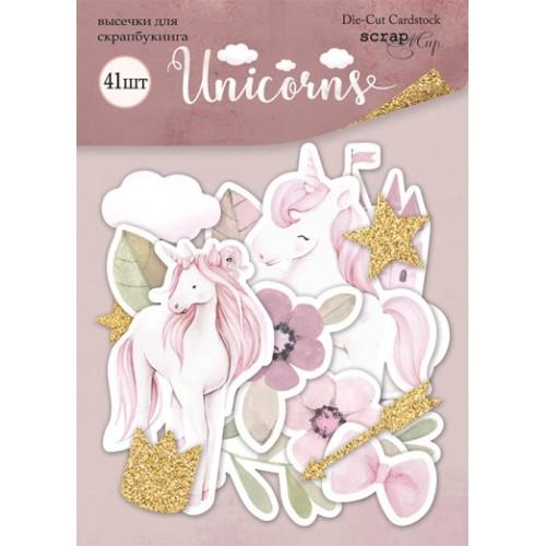 Набор высечек для скрапбукинга 61шт от Scrapmir Unicorns