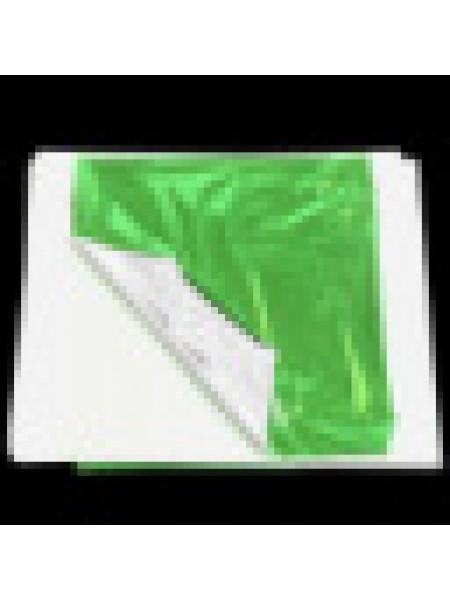 Поталь двухцветная,14*13 см,.цв-зелёный-серебро. Цена за 5  шт