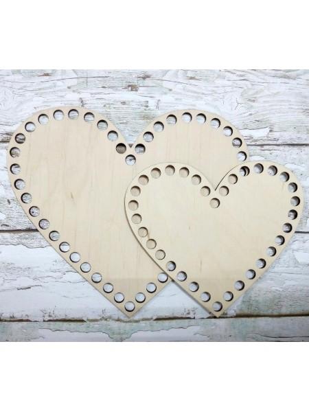 Деревянное донышко для корзин-Сердце,15см