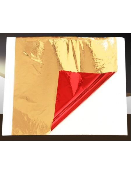 Поталь двухцветная,14*13 см,.цв-красный-золото. Цена за 5  шт