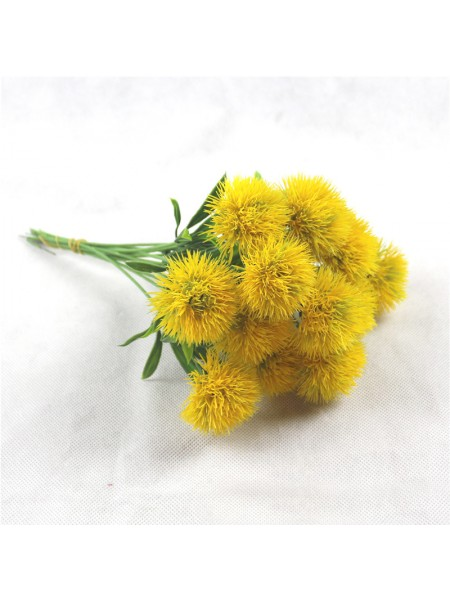 Веточка - Цветок пушистый,цв-жёлтый,цена за 1 шт
