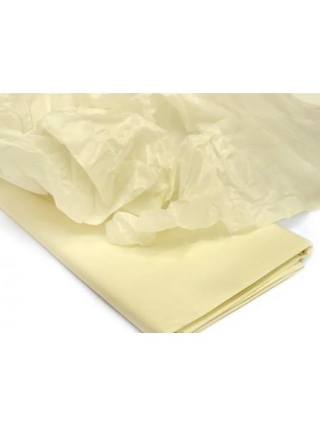 Папиросная бумага тишью,светло-жёлтая,цена за 10 листов