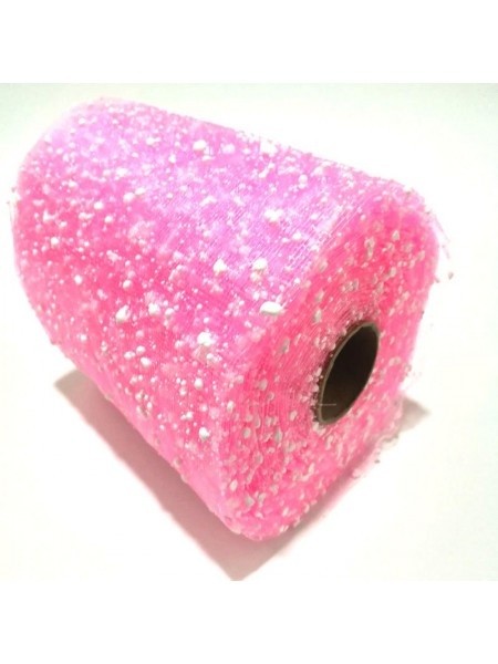 Сетка-снег, цв-розовый,15 см,цена за 1 м