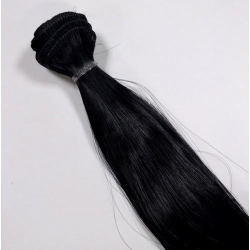 Трессы-прямые (волосы для кукол) , чисто черные,25 см