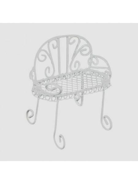 Металлический мини стул, белый