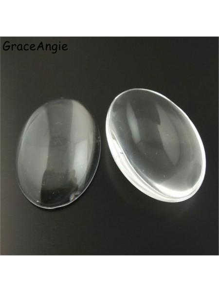 Кабашон-стеклышко,18*25 мм,цена за 1 шт