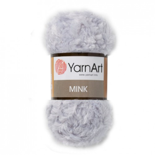 Пряжа YARNART-MINK(Минк),имитация меха.цв-св-серый,№334