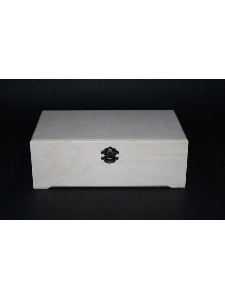 Заготовка №-35,шкатулка с фрезеровкой-прямоугольная ,размер 250*150*90 мм