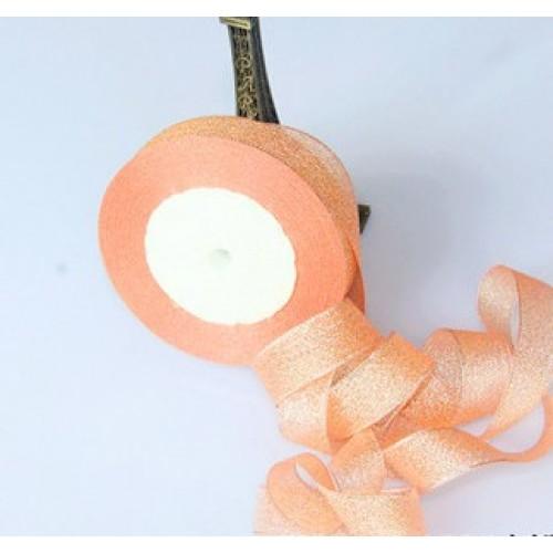 Металлизированная тесьма,цв-персиковый,2см,цена за 1 метр