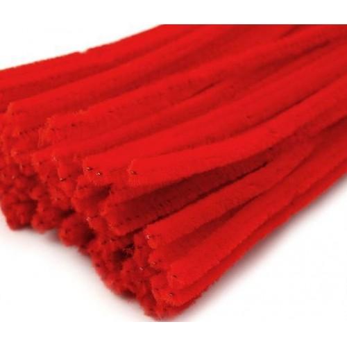 Синельная проволока(шенил)красная,цена за 10 шт
