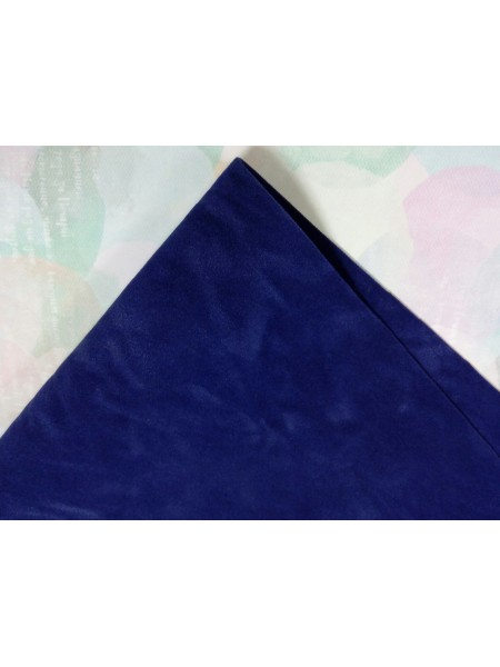 Искусственная замша,18*35см,цв-темно-синий
