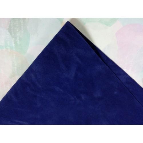 Искусственная замша,А-4,цв-темно-синий