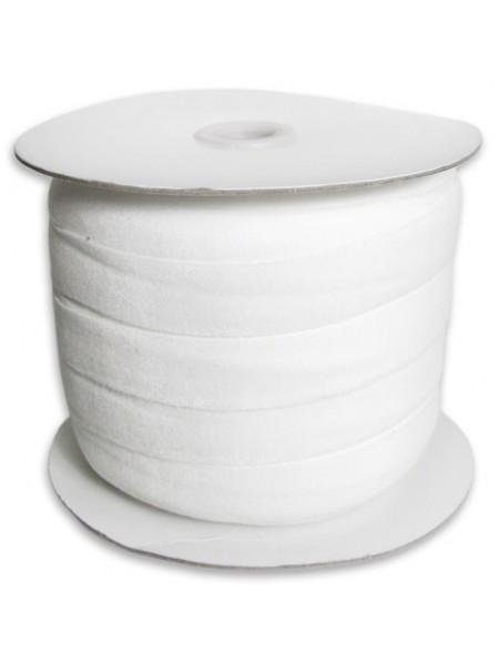 Лента бархатная, 10мм,белая,1метр