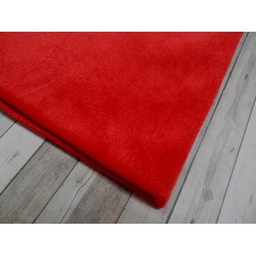 Велюр(плюш), красный,50*50 см