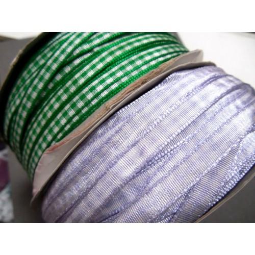 Лента в клеточку -зелёная, 6мм,цена за 1м