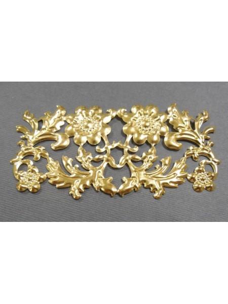 Декоративный элемент,цв-золото.86*42мм,цена за 1 шт