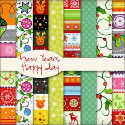 Набор новогодней бумаги 30*30 см.14листов, ВКН-10Б
