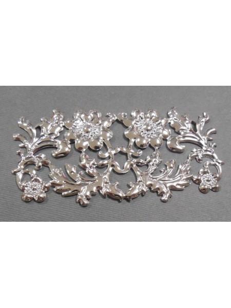 Декоративный элемент,цв-серебро.86*42мм,цена за 1 шт