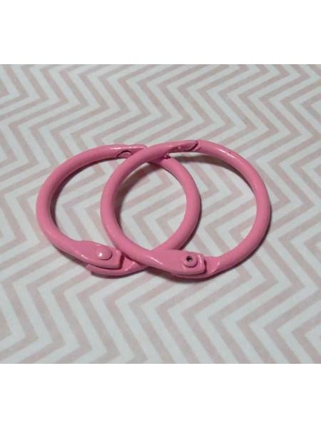 Кольца для альбомов, 2 шт розовые-30 мм