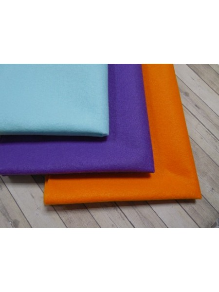 Корейский фетр,мягкий,цв-оранжевый.33*26см