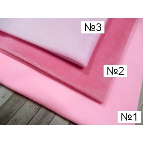 Велюр(плюш), №2-(розовый),50*50 см