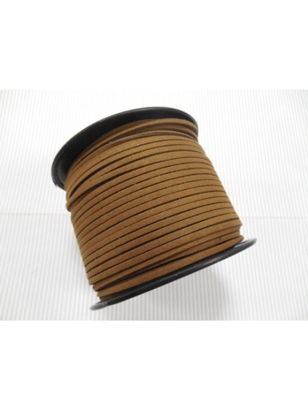 Шнур из замши для украшений, коричневый,Цена-за 1 м