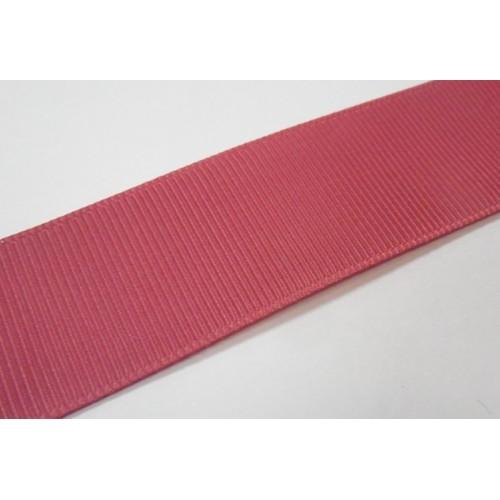 Лента репсовая,25мм.№49,тёмно-розовая