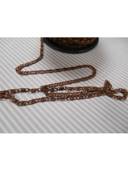 Цепочка металлическая ,цв-медь,цена за 10 см